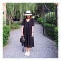 Black Lace Dress : แม็กซี่ผ้าลูกไม้สีดำ คอวีด้านหน้า ด้านหลังจะทึบนะคะ มีซับในทั้งตัว ตรงช่วงใต้หน้าอกเป็นจีบรอบ ลำตัวปล่อย ใส่ได้ถึง XL เลยค่ะ (Price 650฿) . Free size ______________________________ - Add to cart : Line ID @mermaidbackyard - Store Location : Raw You Here Food & Friends Rayong
