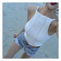 "Summer Knitted Top : ครอปไหมพรมผูกหลัง น่ารักมากจ้าา สีขาวสะอาดตาเลยแมทช์กับชิ้นล่างแบบไหนสีอะไรก็เข้ากัน ใครมีทริปได้ใช้แน่นอน รีบสั่งเลยน้าา ของมีมาไม่เยอะค่า #ถ่ายจากสินค้าจริง (Price 490฿) . Size รอบอก 30""-34"" ยาว x"" ______________________________ - Add to cart : Line ID @mermaidbackyard - Store Location : Raw You Here Food & Friends Rayong"