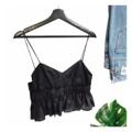 "Benedict Camisole : เสื้อสายเดี่ยวสีดำแต่งระบาย เนื้อผ้าสวยดูแพง ซิปซ่อนข้างสวมง่าย ตัวนี้แพทเทิร์นเก๋ งานตัดเย็บอย่างดี แมทช์กับกางเกง/กระโปรงได้หลายแบบเลยค่ะ #ถ่ายจากสินค้าจริง (Price ฿490) . Size รอบอก 32""-34"" ความยาว 18"" ______________________________ - Add to cart : Line ID @mermaidbackyard - Store Location : Raw You Here Food & Friends Rayong"