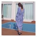 "Gingham Geisha Dress : เดรสทรงกิโมโน แต่งดีเทลแขนระบาย ผ่าข้างเล็กน้อย ด้านหลังทำผ้ามัดปม ทรง oversized นะคะ แบบเก๋ เกาหลีสุด (Price 690฿) . Free Size อก 40"" สะโพก 45"" ความยาว 45"" ______________________________ - Add to cart : Line ID @mermaidbackyard - Store Location : Raw You Here Food & Friends Rayong"