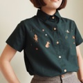 ":: Basic Shirt - Fox home :: • Cotton oxford • Colors : เขียว Green • Chest 39"" • Length 24"" • 550THB.  #เสื้อผ้าผู้หญิง #เสื้อผู้หญิง #เสื้อเชิ้ต #เสื้อเชิ้ตผู้หญิง #เสื้อเชิ้ตแขนสั้น"