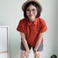 ":: Basic Shirt - Fox home :: • Cotton oxford • Colors : ส้ม Orange • Chest 39"" • Length 24"" • 550THB.  #เสื้อผ้าผู้หญิง #เสื้อผู้หญิง #เสื้อเชิ้ต #เสื้อเชิ้ตผู้หญิง #เสื้อเชิ้ตแขนสั้น"