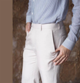 Light beige - levels pocket trousers  color : beige  price : 1,490 THB