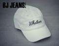 หมวกผ้าลูกฟูก ลายปักตัวอักษร สีขาว One Size