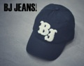 หมวกผ้า Cotton Twill  ตัวอักษรนูน BJ  สีขาว  สีดำ One Size