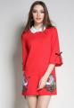 Mirror Dress พร้อมให้สาวๆได้จับจองไอเท็มสุดชิคสำหรับสาวสมัยใหม่กับชุดเดรส Red Swan  ที่ผลิตจากผ้าฝ้ายสีพื้นในสีแดง แต่งดีเทลด้วยการปักลายหงส์ที่ช่วงชายกระโปรงเพื่อเพิ่มความโรแมนติกและน่าค้นหา เพียงแมทช์เข้ากับรองเท้าส้นสูงหรือส้นแบนก็ได้ลุคสมบูรณ์แบบอย่างง่ายดาย   - ตัดเย็บจากผ้าฝ้าย - ดีไซน์คอปก - แขนยาว 3/4 ส่วน - ปิดชุดด้วยซิปด้านหลัง - ทรงพอดีตัว