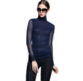 """แต่งสไตล์ให้ดูสวยชวนมีเอกลักษณ์ไปอีกด้วยไอเท็มจากแบรนด์ Mirror Dress กับเสื้อเบลาส์คอเต่าแขนยาวตัวนี้ที่ตัดเย็บมาอย่างดีจากผืนผ้าโพลีเอสเตอร์ เสริมแพทเทิร์นตัวเสื้อด้วยดีไซน์ตัดต่อผ้าโปร่งช่วงแขน แต่ทึบช่วงตัวด้วยซับในในตัว และคัตเอาท์สุดเนี๊ยบช่วยยกระดับสไตล์เฟมินีนที่ดูเป็นผู้หญิงไปในอีกขั้น    - ตัดเย็บจากผ้าโพลีเอสเตอร์ - ดีไซน์คอเต่าสูง - แขนยาว - สีพื้น - ทรงปกติ - มีซับใน   ความยาวไหล่ x รอบอก x ความยาว L (14"""" x 34"""" x 27"""") XL (14.5"""" x 36"""" x 28"""")"""