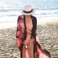 เสื้อคลุมผ้าชีฟองสามารถใส่match กับชุดว่ายน้ำเพิ่มความสวยงามได้เยอะมากค่ะ ลายไม่ซ้ำแบบใคร ผ้าพริ้วใส่สบาย  Size: Freesize