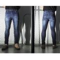 """รุ่น BJMKL-561 สีกรมท่า """"BJ JEANS กางเกงยีนส์กันแดด รุ่น """"UV Protection UPF 50+ Jeans"""" มีน้ำหนัก 11 Oz. ซึ่งผ่านกระบวนการผลิตจากการนำผ้าผ้ายีนส์ที่ทอจาก สีกรมท่า เส้นใยพิเศษ โดยไม่ผ่านการเคลือบน้ำยากันแดดใดๆ  เส้นใยพิเศษนี้ จะป้องกันทั้งแสงแดด UVAและ UVB  ซึ่งป้องกันการเกิดไม่ให้ผิวแก่ก่อนวัย ปราศจากรอยเหี่ยวย่น และจุดด่างดำตามผิวหนัง ปกป้องแสงแดดได้ถึง UPF 50+  และผ้ายีนส์ที่ผลิตออกมา ยังคงความมีความยืดหยุ่น ผ้านิ่ม ใส่สบาย     ไม่อึดอัด """"  #กางเกงยีนส์ #กางเกงขายาว"""