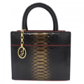 DETAIL: JZ-P S002 / Body: BLACK PYTHON Interior: Red Leather / Hardware: Gold DIMENSION / Width: 24.5 cm / Height: 19 cm Base : 9.5 cm / Shoulder Strap : 110 cm