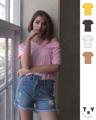 รหัสสินค้า TSW 21  เสื้อยืด สตรี แขนสั้น ตัดต่อ แต่งช่วงคอเสื้อ  เนื้อผ้านิ่มยืดใส่สบาย  ขนาด FREE SIZE ราคาส่ง>>250    ขั้นต่ำ>>490++  🌸สีเหลือง  🌸สีชมพู 🌸สีโอวัลติน 🌸สีขาว 🌸สีดำ  #TSW21 #tbyjeans. #jeansonline. #jeansthailand. #thaijeans. #darkjeans. #slimjeans. #jeansshop.#jeansstore. #salejeans.#bootcut. #bootcutjeans.#cpsjeans. #jeansshoppingonline. #ยืนส์คุณภาพ #ยีนส์ผู้หญิง ****สอบถามร้านค้าก่อนสั่งซื้อทุกครั้ง เนื่องจากสินค้ามีไม่ครบทุกไซส์