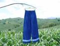 กางเกงไล่สีฟริ้น  Indigo ผ้าฝ้าย 100% ย้อมคราม