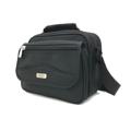 BP WORLD กระเป๋าสะพายข้าง รุ่น A1103  ขนาด : 26 x 12 x 23 ซม. (กว้าง x ลึก x สูง)  รายละเอียดสินค้า  - ผลิตจากผ้าโพลีเอสเตอร์ 1680D หนาพิเศษ ทนทานต่อการใช้งาน  - พกพาสะดวกด้วยหูหิ้วด้านบนกระเป๋า และมีสายสะพายไหล่ที่สามารถปรับระดับได้ตามสรีระของผู้ใช้  - มีช่องกระเป๋าหน้า 1 ช่อง เปิด-ปิด ด้วยตีนตุ๊กแก บริเวณฝาปิดมีช่องซิปอีก 1 ช่อง  - ช่องกระเป๋าหลัก เปิด-ปิด ด้วยซิปเบอร์ 10 ขนาดใหญ่ แข็งแรง ทนทาน  - ภายในช่องกระเป๋าหลัก มีช่องซิป 1 ช่อง สำหรับแยกจัดเก็บสัมภาระ   - มีช่องกระเป๋าด้านหลัง 2 ช่อง