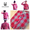 "Malongze Red Checked Super Shirt Colour : Red-Gray Price : 950 ฿ ( From 1490฿ ) Fabric : 100% Japanese Cotton  Size Guide  XS : W36"" L27"" S : W38"" L28"" M : W40"" L29"" L : W42"" L30"" XL : W44"" L31""  Order via line : foamzioiz"