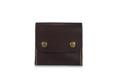 หนังวัวแท้ฟอกฝาด  ช่องใส่เหรียญแบบมีซิป และมีช่องสำหรับใส่ธนบัตรโดยการพับ เย็บด้วยมือ ตกแต่งขอบมนเรียบ ทำจากมือ 100% ขนาด 9.5 x 10 x 2 cm  มีสี ธรรมชาติ น้ำตาลแดง น้ำเงิน และดำ  Vegetable tanned leather  Two snap button to open-close. Compact size YKK® zipper for coin slot with medium capacity wallet. Accommodates single folded cash,bills and cards additional.  Size : 9.5 x 10 x 2 cm