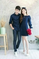 "Luxxys Couple     - แฟชั่นงานเซ็ทคู่รัก เดรสเดรสจุดโบว์หน้า แขนระบาย งานผ้าอย่างดี  - เซ็ทนี้มี 2 ชิ้น 1. เชิ้ต (shirt) 2. เดรส (dress)  - งานมี 2 สี : สีกรม                    : สีเลือดหมู - Color 2    : Blue tone                    : Red tone  - ขนาด ผู้ชาย : เอ็ม แอล             ผู้หญิง : ฟรีไซส์ - Size Man : M L      Woman : Free size        อก ( chest ) : 34""       เอว ( waist ) : 28""       สะโพก ( hip ) : 38""       ยาว ( length ) : 33"""