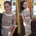 """ราคา 990฿ Best Seller-Restock ครบไซด์   🎉Sevy Hi-End CC Tweet Sleeveless Tassel Mini Dress  Type: Mini Dress  Fabric: Tweet  Detail: มินิเดรสงานแบรนด์ CC ที่เหล่าบรรดาดารา เซเลบ ทั้งไทยและเทศนิยมกัน เดรสทรงสอบแต่งชายพู่ และกระเป็าหน้าสองข้าง ทอลายตารางสีพาสเทลสลับ ใส่ออกมาแล้วดูดี สง่าราศีจับเลยค่ะ รุ่นเดียวกับที่คุณใหม่ ดาวิกาใส่เลยค่ะ  Tag: sevy  Color: Photo  Size: M/L  M วงแขน 16"""" อก 36"""" เอว 32"""" สะโพก 36"""" ยาว 34""""  L วงแขน 17"""" อก 38"""" เอว 34"""" สะโพก 38"""" ยาว 34""""  #Dresses #bethefirstshop"""