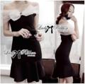 """🎀 Lady Ribbon's Made 🎀 Lady Clair Haute Couture Ribbon Body Con Dress   ราคา 650 บาท  เดรสเปิดไหล่ผูกโบว์ทรงบอดี้คอนสุดหรู ตัวนี้แนะนำสำหรับสาวที่มองหาชุดออกงาน ดูหรูหราไฮโซมากๆ มีดีเทลช่วงอกเป็นแบบเปิดไหล่ ใช้ผ้าแก้ว Organza สีขาว see-through ตัดต่อและผูกเป็นโบที่กึ่งกลางอกประดับคริสตัลเม็ดใหญ่เป็นเหมือนเข็มกลัดตรงกลาง ตัดต่อผ้า Spandex เข้ารูปนิดๆ ทรงสวยเข้ารูปแบบบอดี้คอนแต่ด้านปลายปล่อยระบาย ใส่คู่กับส้นสูงก็เอาอยู่แล้วค่ะ ให้ลุค Classy ผู้ดีมากคะ **งานป้าย Lady Ribbon เนื้อผ้า Organza 100% ตัดต่อ Polyester ผสม Spandex ผ้าเนื้อดี ดูแพง ยืดได้ใส่สบาย ทรงสวยเป๊ะตามนางเเบบคะ  Detail S อก30""""-34"""" ซิปข้าง วงแขน18"""" ผ้าค่อนข้างยืด เอว24""""-28 สะโพก38"""" ความยาวชุด33""""  M อก32""""-36"""" ซิปข้าง วงแขน18"""" ผ้าค่อนข้างยืด เอว28""""-30"""" สะโพก38""""-40"""" ความยาวชุด33"""""""