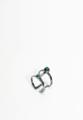 Sombrero galaxy ring Material : Brass. Color : Black rhodium plated. Stone : Malachite.  #ring #stone