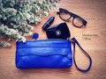 "Collection: Sherbet Mix Color : blue --- IG : charinbag Line : charinbag More info>>> Facebook: www.facebook.com/charin.bag --- Genuine Leather หนังวัวแท้ 100% หนังแท้ชนิดหนังชามัวร์ มีลายของหนังตามธรรมชาติ หนังชนิดนี้นุ่มมากและดูแล รักษาง่าย ทนฝนทนน้ําสุดสุด ยิ่งใช้ไปนานๆยิ่งขึ้นเงาและนุ่มมากขึ้น  - มีช่องซิปซ่อนด้านนอก - ด้านในมีช่องแบ่งถึง 3 ช่อง และช่องเล็กเพื่อใส่บัตรได้ - มีสายสะพายให้ 2 สาย 1. สายสะพายยาวปรับขนาดได้ 2. สายสั้น ที่สามารถปรับเปลี่ยนเป็นแบบคล้องมือและสะพายไหล่ได้  Size : • Width - 9.5"" • Height - 5"" • Depth - 1.8 ""  • มีช่องใส่ของด้านหน้าเป็นลัษณะซิปซ่อน • ด้านในช่องกระเป๋ามีช่องแบ่งกระเป๋าให้เป็นสัดส่วนถึง 3 ช่อง / ช่องเล็กไว้ใส่บัตร • สามารถใส่ iphone 4/4s 5/5s Samsung Note 2 / Note 3 ได้ทุกรุ่น  #bag #genuineleather #leatherbag #crossbodybag #tote #wallet #purse #handmade #fashion #women #clutch"