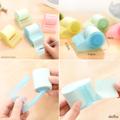 โพสอิท (post it) - กระดาษโน๊ตกาว สีพาสเทลแบบม้วน พร้อมที่ฉีก  - โพสอิทแบบม้วน มีกาวในตัว - สามาถแปะได้สนิท หลุดยาก - สามารถเลือกความยาวได้ตามต้องการ แล้วฉีกเลย  - กระดาษโพสอิท มีความยาวถึง 7.6 m คุ้มค่าสำหรับการใช้งาน เหมาะสำหรับพกพา -เป็นสินค้าไอเดีย น่ารักๆ ดีไซน์สีสันที่เรียบง่าย   มี 4 สี : เหลือง ฟ้า ชมพู เขียว สั่งซื้อสอบถาม inbox ได้เลยจร้า หรือไลน์ @kudsanshop