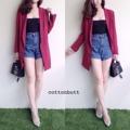 HD0699 NEW!!!! zara blazer สูทยาว เท่ๆ งานอย่างดี ซับในทั้งตัว สวยฝุดๆ ดูผู้ดีมากค่าาาาา Must have   ดำ ครีม แดง กรม เทา  790฿ จองด่วน!!!   Made in korea