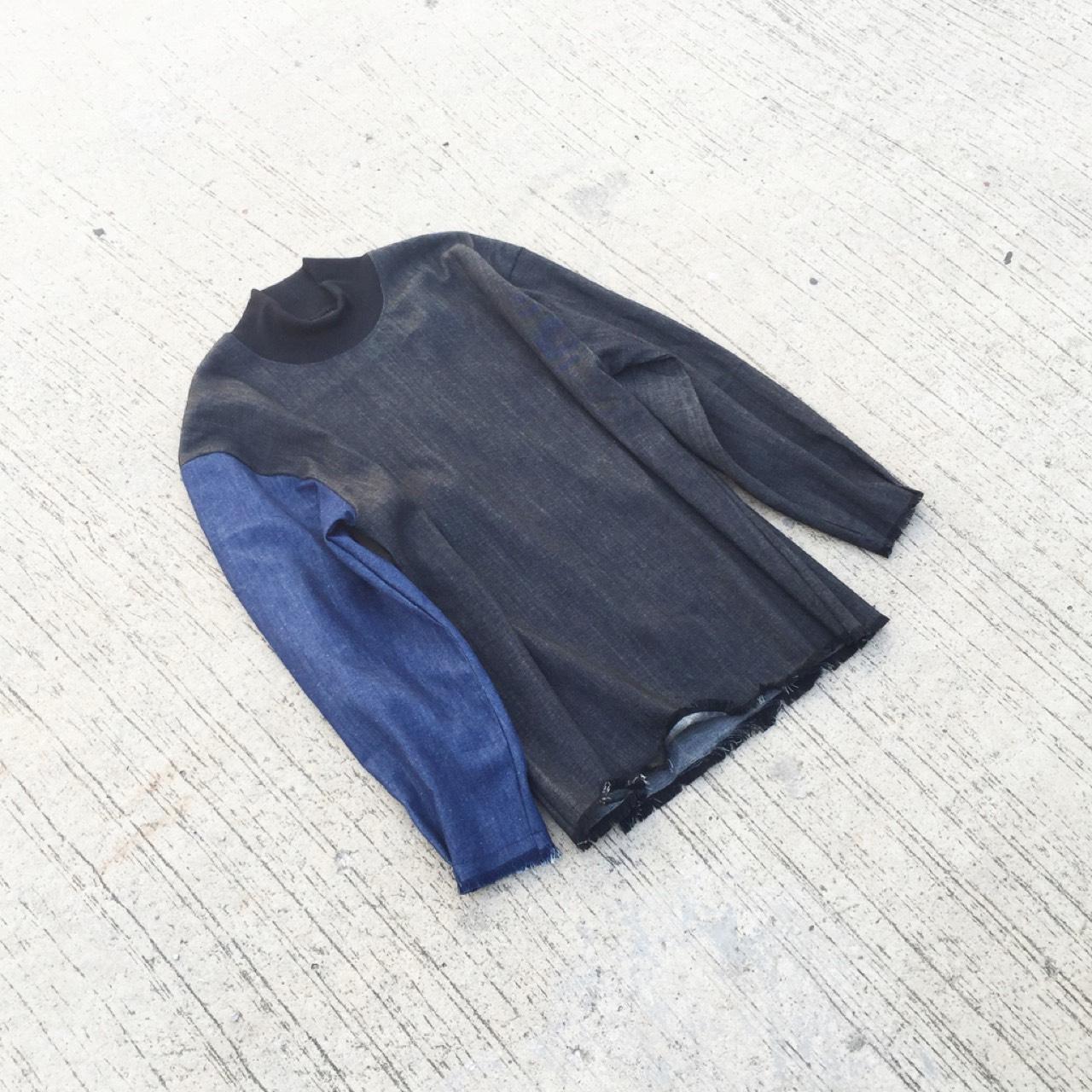 Denim,dottodot33,เสื้อแขนยาว,เสื้อคอเต่า,เสื้อแขนยาวคอเต่า