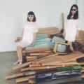 See through Dot mini dress (left) 790 See through Dot pullover (Right) 590 white mini skirt 490