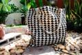 """กระเป๋าผ้าแคนวาสลายสามเหลี่ยม canvas tote bag Size : W 20"""" / H 18""""  Price : 220.- (ฟรีจัดส่ง) Line : Paelur"""