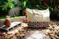 """กระเป๋าผ้าแคนวาสสีครีม canvas tote bag Size : W 20"""" / H 18""""  Price : 220.- (ฟรีจัดส่ง) Line : Paelur"""