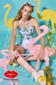 Think Pink Flamingo Cross Back Top  Detail - เสื้อสายเดี่ยวสั้น มีสายไขว้ด้านหลังค่ะ เนื้อผ้าใส่สบาย รีดง่าย   - มี 3 ไซส์ ค่ะ ( S,M,L)    #Think Pink Flamingo Cross Back Top #pleaseshop