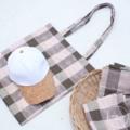 "homemade bag ☻ size 15.5 × 14"" 250 THB  &  ✎..""White Cork Cap""  280 THB Line : bookkinie"