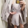 """✨890฿✨ 🎉Sevy Two Pieces Of Casual Off Shoulder Playsuit With Jacket Suit Sets  Type: Playsuit+Jacket (Sets)  Fabric: Hanako  Detail: Sets ลุค Smart Casual เกาะอกกางเกงขาสั้นจับจีบระบายคล้ายกระโปรง  มาเข้าเซทกันกับเสื้อสูทสีเดียวกัน ใส่ออกมาแล้วดูดี แต่ก็ยังคงสไตล์ชิวๆ รุ่นนี้จะใส่เกาะอกอย่างเดียวก็เก๋ หากใส่สูทก็จะได้ลุคสามมั่น หรือจะแยกใส่กับตัวอื่นก็เวิร์คนะคะ คุ้มมากเลยค่ะ  Tag: sevy  Color: Grey  Size: S/M  🌸 S เกาะอก อกสม็อคหลัง Free-36"""" เอว 26"""" สะโพก Free-38"""" เอว-เป้า 12"""" ยาว 24"""" เสื้อสูท วงแขน 18"""" แขนยาว 21.5"""" อก 36""""-38"""" เอว 36""""-38"""" ยาว 27"""" 🌸 M เกาะอก  อกสม็อคหลัง Free-38"""" เอว 28"""" สะโพก Free-40"""" เอว-เป้า 12"""" ยาว 24"""" เสื้อสูท วงแขน 20"""" แขนยาว 21.5"""" อก 38""""-40"""" เอว 38""""-40"""" ยาว 27"""" #Set #chalidalishop"""