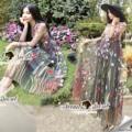"""✨1490฿✨ (เดรส+สายเดี่ยวตัวใน)  Seoul Secret Say's... Eva Color Flora Embroider Dress   Material : เนื้อผ้า Net มีดีเทลสวยๆ ด้วยงานปักประดับเป็นลายดอกไม้ทั้งตัว งานปักสวยมากคะ สีสันสดใสสวย งานปักดูมีมิติสวยมากคะ หรูหราด้วยเดรสตัวยาว สีสวยเก๋ดูไฮด้วยโทนสีเทา สีสวยดูคลาสสิคมากคะ  Match กับสีของงานปักได้สวยมากคะ  สาวๆ ใส่ออกงานดูสวยเด่นน่ามองมากคะ ลุคสาวหวาน ดูดีมีคลาสมากคะ   Color : สีเทา  Size : S อก 34-36"""" วงแขนกว้าง 16"""" ความยาวแขน 23"""" เอว 28"""" สะโพก 42"""" ความยาว 49""""            M อก 36""""-38"""" วงแขนกว้าง 16"""" ความยาวแขน 23"""" เอว 30"""" สะโพก 44"""" ความยาว 49""""  ซับใน อก F-40"""" วงแขนกว้าง 16"""" ความยาว 16"""" #เดรสยาว #chalidalishop"""
