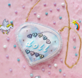 candy doll club heart bag  กระเป๋าผ้าพืมพ์ลายแต่งเพชรและระบายฟรุ้งฟริ้ง น่ารักฝุดๆ