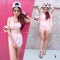Bikini ลูกไม้ 3 ชิ้น สุดแซ่บ สุดสตรอง มา 3 สี แดงเลือดหมู ครีม ชมพู 🎀 350 บาท 🎀 size : อก 30 - 38 🎀 size : เอว 22 - 34   🎀freesize  #ชุดว่ายน้ำลูกไม้ #fp_shop
