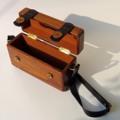 WT Wooden Bag  out size: 8x22x12 cm.  in size: 6.5x20.5x9 cm.  weight around 600g.  Have 7 colors : 01 dark brown 02 Terracotta brown 03 beige 04 pink 05 blue 06 white  07 black with dark wood.   1250 THB free EMS in Thailand