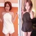 """เซต2ชิ้น เสื้อสายเดี่ยว+กางเกงกระโปรง  Fabric : ผ้าฮานาโกะ Color : ขาว ดำ Size : อก 36"""" ยาว 19"""" นิ้ว เอว 24-28"""" ยาว 13"""" 🎀ราคา : 290 #ร้านลิลินนา #lilinnaashop"""