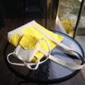 """เหลืองเล็ก เหลืองใหญ่  yellow canvas pocket 200.- freeEMS  yellow original boat tote size 16""""×14.5"""" 450.- freeEMS"""
