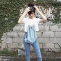 "gym bag  size : 14.5"" x 17"" color : jeans  material : jeans cloth"