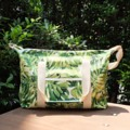 """Made of tropical screen pattern canvas Size : 12.5""""x16.5"""" Line : tinythien , faigiant for more details #dodoesdidtotebag ##tote #bag #totebag #TROPICAL #dodoesdidtotebag"""