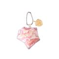 พวงกุญแจผ้าพิมพ์ลายแพทเทิร์นหิน ด้านหลังเป็นผ้าหนังกลับสีน้ำตาล สำหรับห้อยกระเป๋า ถุงผ้า โทรศัพท์ ฯลฯ   Size : 6 x 6 x 4 cm. Material : Printed cotton with polyester | Handmade    Designed by Studioflamingo Co.,Ltd