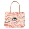กระเป๋าผ้า Tote Bag ทำจากผ้าแคนวาสแบบมีก้นขยาย พิมพ์ลายแพทเทิร์นหิน ปักลวดลายกราฟิก หูกระเป๋าทำจากหนัง  เหมาะสำหรับใส่ของใช้และสิ่งของที่ต้องการพกพาติดตัว  Size : 45.5 x 32.5 x 12 cm. Material : Printed cotton & Leather | Handmade   Designed by Studioflamingo Co.,Ltd