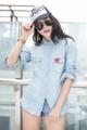 "M 03851104 ""Play Comme jeans shirt"" เชิ้ตยีนส์Play Comme เย็บตีเกร็ดข้างตัวทรงสวยสุดๆ ผ้ายีนส์ฟอกอย่างดีใส่สบายไม่ร้อนไม่คัน สาวกเชิ้ตยีนส์ห้ามพลาด   #mirrorsister #playstore"