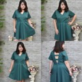 Size chest 40,42,44 inches  Material: cotton satin Color: green Model height: 159 cm #plussize #clothes #fashion