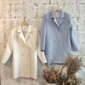 long sleeve jacket color : pastel blue / white freesize for more info.please contact line : ployypaloyy