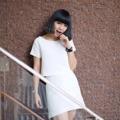 Lovely girl k @tinyyygirl wearing pastel crop top in white set☁️✨ #pastel set in white #actuallywears