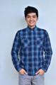 เสื้อลายสก๊อตสีน้ำเงิน สไตล์ Western   Long Sleeves Checked Shirt  ,Western Style เสื้อเชิ้ตลายสก๊อต ผ้าเชิ้ตบางนุ่ม ใส่สบาย มี 3 ไซส์ XS รอบ-อก 38 นิ้ว  M รอบ-อก 44 นิ้ว L รอบ-อก 48 นิ้ว  Line id:@superscott