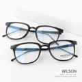 WILSON - black แว่นทรงเหลี่ยม ขาโลหะ  น้ำหนัก24 กรัม กรอบแว่นพลาสติก ขาแว่นโลหะ + พลาสติก sizeเลนส์ 50, สูง 42, กว้าง 140 มม ประกอบด้วยกล่องใส่แว่น + ผ้าเช็ดแว่น