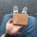 money clip หนังวัวฟอกฝาดแท้ เกรด A   งานคุณภาพที่ผ่านการทำด้วยมือ ตัดเย็บปราณีต ด้วยความใส่ใจในทุกรายละเอียด ทุกขั้นตอน  Vegtan Leather Color : Natural  -Size 11.5x8 cm -4 card slot  ราคา 850  #money clip #wallet #leather # หนังฟอกฝาด #Borumhandcraft  ##กระเป๋าหนังแท้